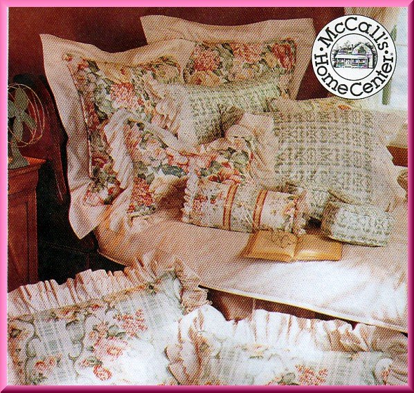 Home Dec Pillow Cushion Essentials McCall's Sewing Pattern 7529 Shams Neckroll Neck Pillow Wedge