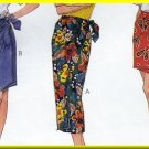Women's Sarong Wrap Skirts 3 Lengths Sz L-XL Uncut McCall's 9255 Wraparound Tie Front Vacation Wear