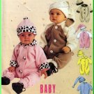 Babies' Stretch Knit Jumpsuit Hat All Sizes McCall's Sewing Pattern 9625 Adorable Warm Fleece Velour
