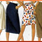 Classic Women's Skirts in 4 Lengths Sz 8-18 Uncut New Look 6335 Basic Slim Straight Skirt Waistband