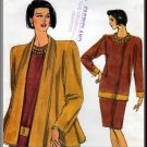 Simple Stylish Women's Skirt Suit Sz 14-18 Uncut Vogue 7860 Loose-Fitting Swing Jacket Pullover Top
