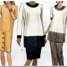 Women's Formal Maternity Wear Outfit Sz 8-12 Uncut Vogue 7982 Mod Office Dress Tunic Skirt or Pants