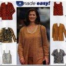 Classic Women's Twinset Cardigan Set Sz 18W-24W Uncut Simplicity 8431 Plus Size Tank Top Camisole
