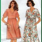 Charming Women's High Waist Dress Sz XS-XL Uncut Simplicity 9047 Retro 90s Funky Feminine Blossom
