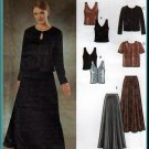 Fancy Evening Gala Skirt and Twinset Sz 10-16 Uncut Simplicity 9948 Jessica McClintock Collection
