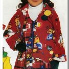 Girl's Warm Fleece Outfit Sz 5-6x Butterick Sewing Pattern 5096 Hat Jacket Vest Scarf Pants Dress