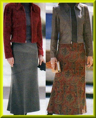 Women's Long Flowing Bias Skirt Sz 6-10 Uncut Butterick 5693 Classic Collar Princess Seam Zip Jacket