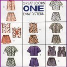 Cute Girl's Summer Shorts Set Sz 4-6 McCall's Sewing Pattern 7676 Lace Ruffled Trim Playtime Clothes
