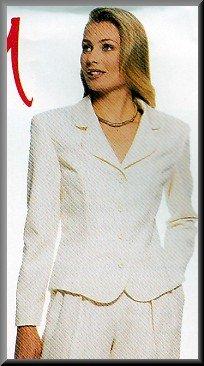 Feminine Fitted Women's Pants Suit Sz 8-14 Uncut McCall's 8601 Business Corporate Chic Office Wear