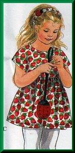 Sweet Girl's Tunic Fun Applique Dress Sz 2-4 Uncut Simplicity 9464 Cute Fun Ladybug Purse Headband