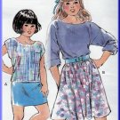 Bubblegum 80s Girl's Skirt Set Sz S-XL Uncut Kwik Sew 1752 Retro Stretch Boat Neck Top Flashdance