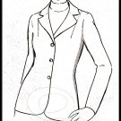 Mod Chic Women's Stretch Blazer Sz 8-18 Uncut Basic Knits 116 Notch Collar Basic Button Front Jacket