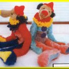 Plush Clown Bear Child's Toy Doll Bring on the Clown Sewing Pattern Arts and Crafts