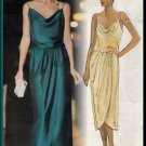Sophisticated Glamorous Flowing Blouson Dress Sz 8-12 Uncut Vogue 1137 Chic Elegant Wrap by Kasper