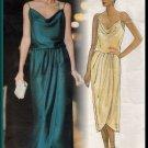 Sophisticated Glamorous Flowing Blouson Dress Sz 8-12 Uncut Vogue 1137 Chic Elegant Wrap by Kasper