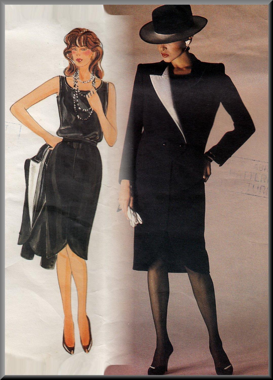 CUT Avant Garde Women's Italian Suit Sz 10 Vogue 1233 Sophisticated Chic Skirt Ensemble by Valentino
