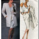 Long Jacket Skirt Suit Sz 8 Vogue Sewing Pattern 1867 Retro 80s Minimalist Style Christian Dior
