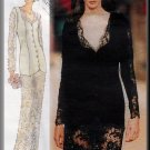 Edgy Lace Emanuel Ungaro Dress Sz 6-10 Vogue Sewing Pattern 2062 Retro 90s Dark Sleek Gothic Sheer