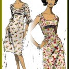 Sophisticated Sleek Misses' Sheath Dress Sz 16 Weldons Sewing Pattern 8226 Fitted Darts Frills