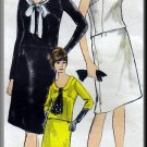 Feminine Regal 2-Piece Dress Sz 14 Vogue Sewing Pattern 6389 Graceful Mad Men 60s Blouse Top Skirt