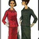 Laird-Knox 60s Misses' Suit Sz 12 McCall's Sewing Pattern 7981 Double Breasted Jacket Skirt Jackie O