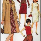 Classy Sophisticated Misses' Coordinates Sz 12 McCall's Sewing Pattern 8382 Dress Coat Jacket Skirt