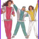Color Blocked Misses' Knit Sweatsuit Sz 8-40 Burda Sewing Pattern 6409 Jogging Suit 80s Fitness Wear
