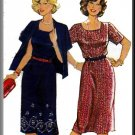 Misses' Professional Outfit Sz 16-44 Burda Sewing Pattern 8418 Secretary Dress Cardigan Jacket