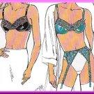 Sexy Lingerie Bra Garter Belt Sz XS-L 32A-38DD Kwik Sew Sewing Pattern 2101 Lace Satin Mesh Sheer