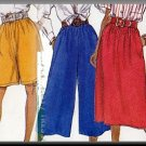 Easy Women's Bottoms Sz XS-M Butterick Sewing Pattern 4137 Simple Culottes Shorts Pants Skirt