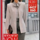 Professional Office Skirt Suit Sz 6-10 Butterick Sewing Pattern 4427 Jacket Blouse Skirt Scarf