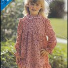 Cute Ruffled Dress Sz 3-6x Butterick Sewing Pattern 5194 Girls' Peter Pan Collar Gathers Frills