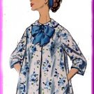 Ladylike Housecoat Dressing Gown Robe Sz 16 Simplicity Sewing Pattern 3230 Peter Pan Collar