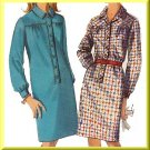 Mod Chic Step-in Dress Sz 14 Simplicity Sewing Pattern 6626 Retro Knee Length Straight Shirtdress