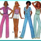 70s Trendy Summer Outfit Sz 8-12 McCall's Sewing Pattern 6046 Shorts Tank Top Miami Beach