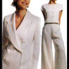 Chic Professional Pants Suit Sz 8 McCall's Sewing Pattern 8256 Misses' Double Breasted Blazer Top