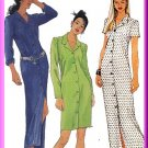 Classic Semi-Fitted Shirtdress Sz 4-8 McCall's Sewing Pattern 8724 Chic Trendy Casual Button Front