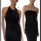 Sexy Stretch Halter Dress Sz 10-14 McCall's Sewing Pattern 9295 Strapless Long Easy Knit Gown
