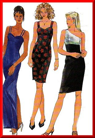 Elegant 1-Shoulder Fancy Dress Sz 10-14 Simplicity Sewing Pattern 7652 Empire Bodice Evening Gown
