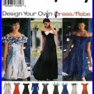 90s Bridesmaid Prom Party Gowns Sz 10-14 Simplicity Sewing Pattern 9495 Off Shoulder Ruffles Dress