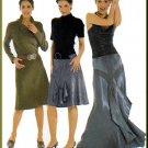 Trendy A-Line Yoke Skirts Sz 10-22 Burda Sewing Pattern 8277 Flirty Flounce Fancy Pretty Ruffle