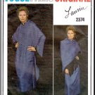 Timeless Shirtdress Shawl Outfit Sz 10 Vogue Sewing Pattern 2374 Lanvin Paris Original Retro Chic