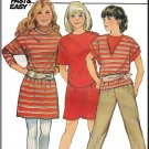 Girls' Casual Knit Sport Separates Sz 7-10 Butterick Sewing Pattern 6039 New Wave Sweatshirt Dress