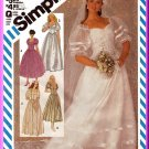 Bohemian Wedding Bridesmaids Dress Sz 12 Simplicity Sewing Pattern 6241 Sweetheart Puffy Bridal Gown