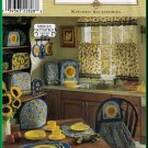 Sunflower Home Dec Kitchen Accessories Simplicity Sewing Pattern 8693 Crafts Decor Curtains Apron