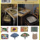 Place Mats and Chair Pads Home Dec Simplicity Sewing Pattern 8696 Crafts Cottage Kitchen Decor