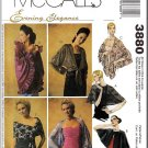 Women's Evening Wraps Cover-ups Sz XS-XL McCall's Sewing Pattern 3880 Fancy Shawl Cape Shrug Bolero