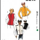 Sporty Fitted Fleece Jacket Vest Sz XS-XL Kwik Sew Sewing Pattern 2615 Zippered Casual Waistcoat