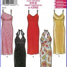 New Look Sewing Pattern 6035 Sz 8-18 Empire Bodice Evening Dress Spaghetti Halter Five Dresses in 1