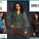 Vogue Sewing Pattern 2912 Sz 10-14 Anna Sui Poet's Ruffled Romantic Blouses Bow Tie Gathers Pleats
